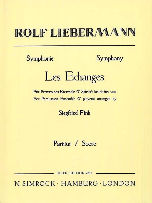 Symphony Les Echanges Symphonie - Rolf Liebermann - laflutedepan.com