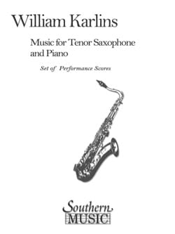 Music - M. William Karlins - Partition - Saxophone - laflutedepan.com