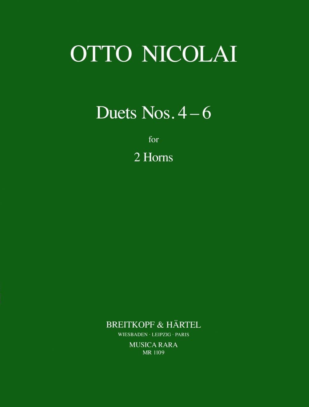 Otto Nicolai - Duets N° 4, 5 & 6 - Partition - di-arezzo.fr