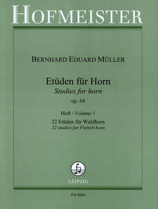 Etüden Für Horn Opus 64 Volume 1 - laflutedepan.com