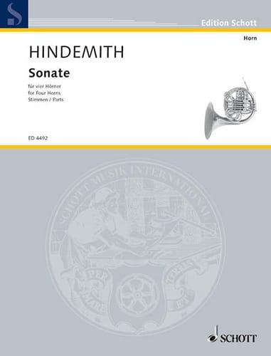 Paul Hindemith - Sonate - Partition - di-arezzo.de
