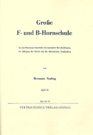 Hermann Neuling - Fat F Und B Hornschule Volume 2 - Partition - di-arezzo.com