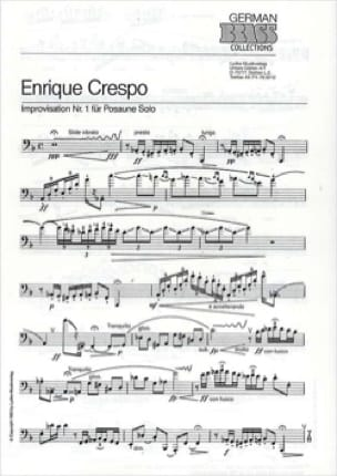 Enrique Crespo - Improvisation Nr. 1 - Partition - di-arezzo.co.uk
