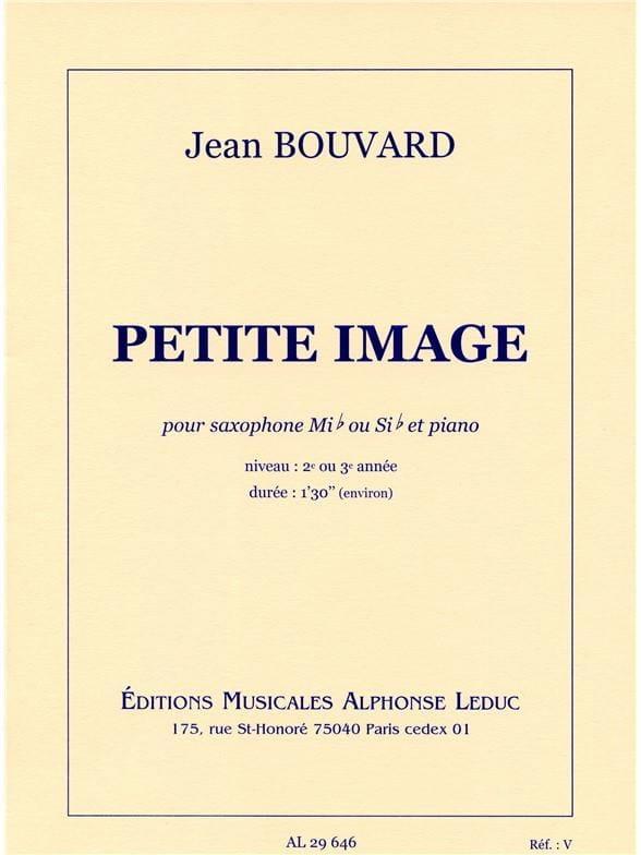 Petite Image - Jean Bouvard - Partition - Saxophone - laflutedepan.com