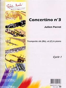 Julien Porret - Concertino N ° 3 - Partition - di-arezzo.co.uk