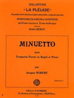 Minuetto - Jacques Robert - Partition - Trompette - laflutedepan.com