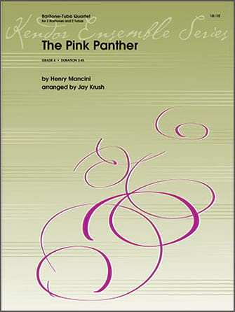 Henry Mancini - The Pink Panther - Tubas Quartet - Partition - di-arezzo.com
