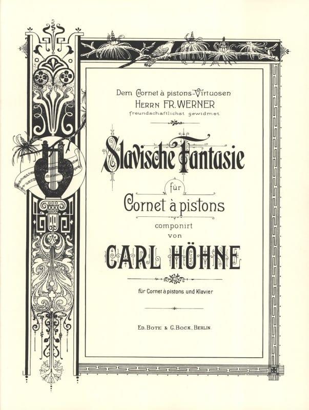 Slavische Fantaisie - Carl Höhne - Partition - laflutedepan.com