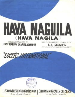 Charles Aznavour - Hava Naguila (Hava Nagila) - Partition - di-arezzo.co.uk