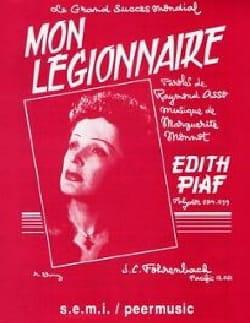 Edith Piaf - Mein Legionär - Partition - di-arezzo.de