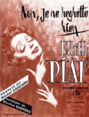 Edith Piaf - No, I do not regret anything - Partition - di-arezzo.com