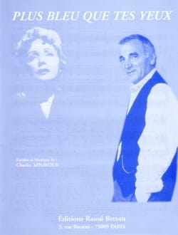 Charles Aznavour - More blue than your eyes - Partition - di-arezzo.co.uk