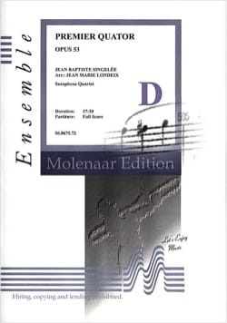 Jean-Baptiste Singelée - Primer Cuarteto Opus 53 - Partition - di-arezzo.es