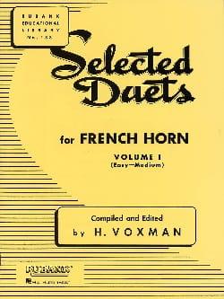 Selected Duets Volume 1 - Voxman - Partition - Cor - laflutedepan.com