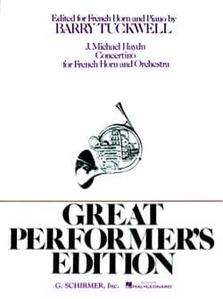 Michael Haydn - Concertino - Partition - di-arezzo.fr