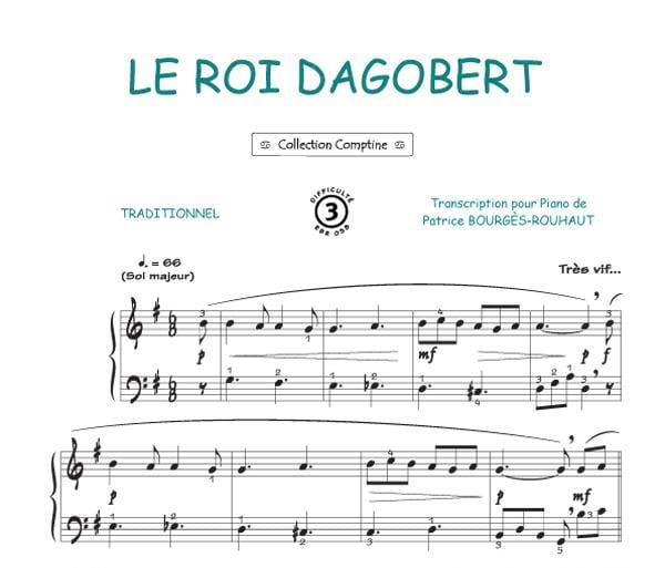 Traditionnel - King Dagobert - Partition - di-arezzo.co.uk