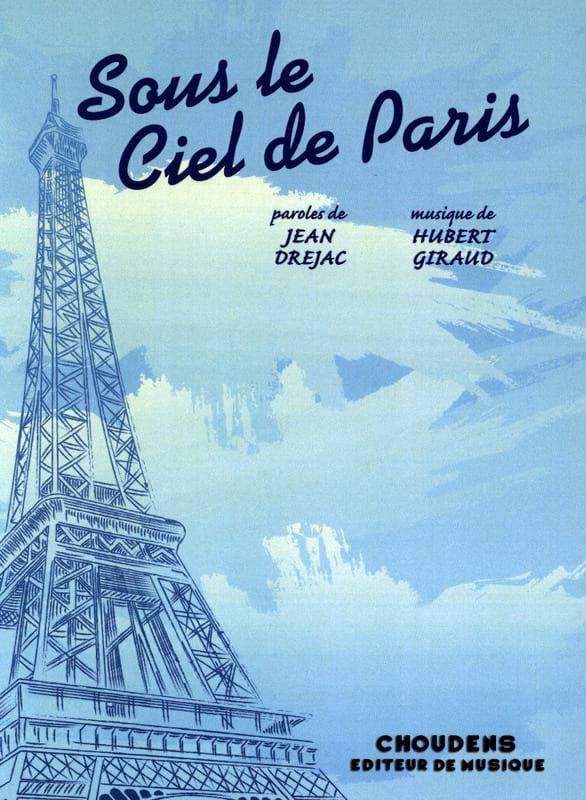 Sous le Ciel de Paris - Hubert Giraud - Partition - laflutedepan.com