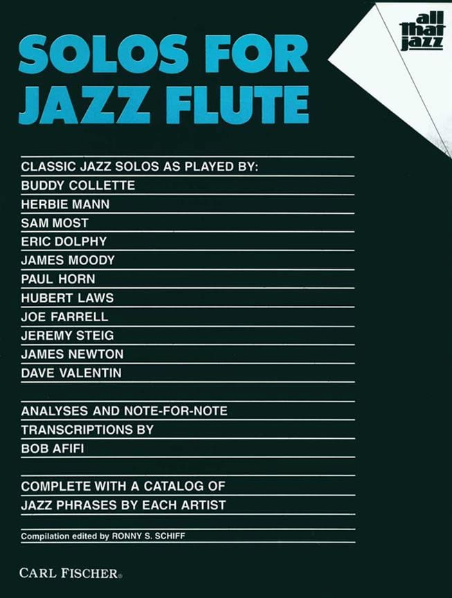Solos For Jazz Flute - Partition - laflutedepan.com