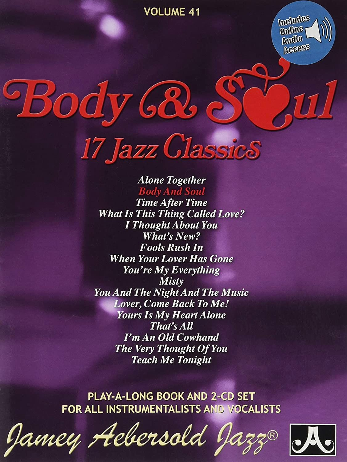 METHODE AEBERSOLD - Volume 41 with 2 CDs - Body - Soul - Partition - di-arezzo.co.uk