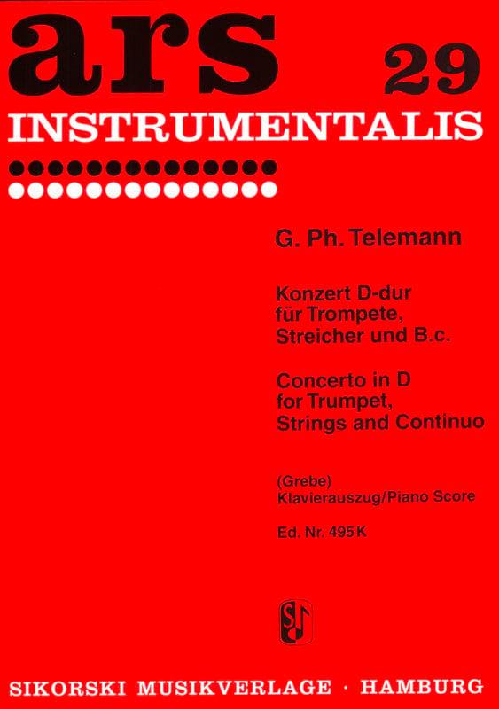 TELEMANN - Concerto In D - TWV51: D7 - Partition - di-arezzo.co.uk