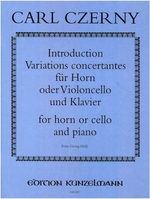 Carl Czerny - Introducción Variaciones Concertantes - Partition - di-arezzo.es