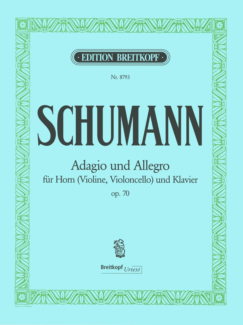 SCHUMANN - Adagio and Allegro Opus 70 - Partition - di-arezzo.com