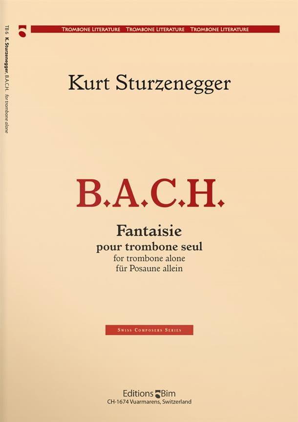 B.A.C.H. Fantaisie - Kurt Sturzenegger - Partition - laflutedepan.com