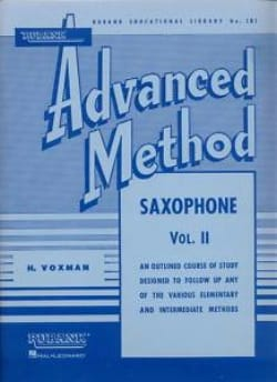 Advanced Method Volume 2 - H. Voxman - Partition - laflutedepan.com