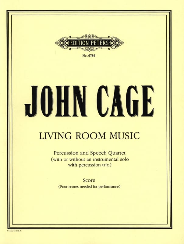 Living Room Music - Score - John Cage - Partition - laflutedepan.com