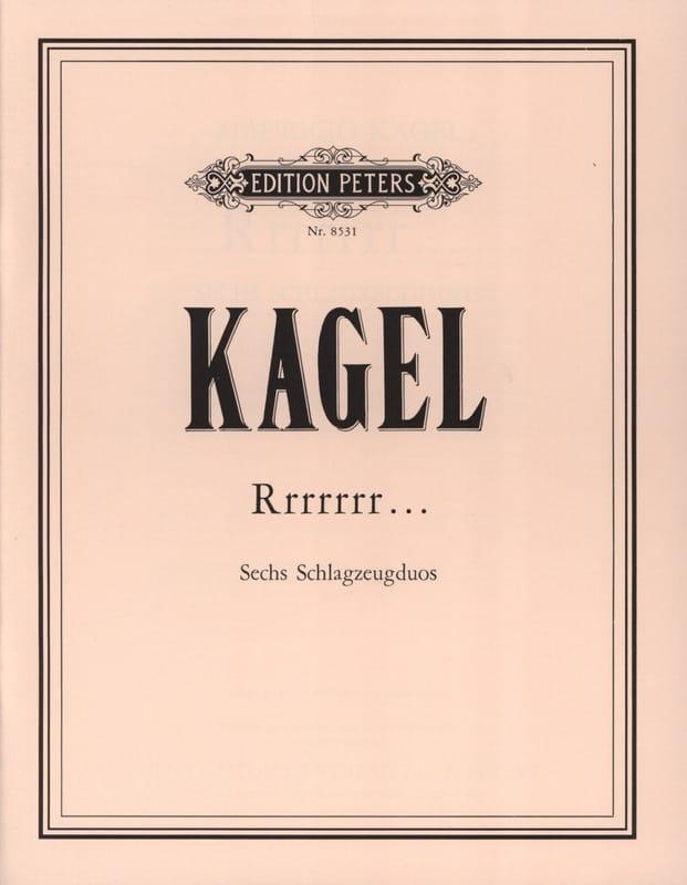 Rrrrrrr... - Mauricio Kagel - Partition - laflutedepan.com