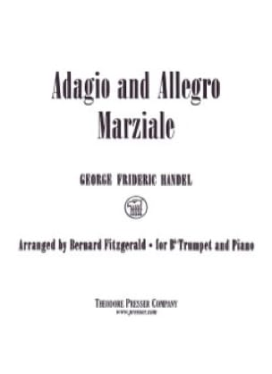 HAENDEL - Adagio And Allegro Marziale - Partition - di-arezzo.com