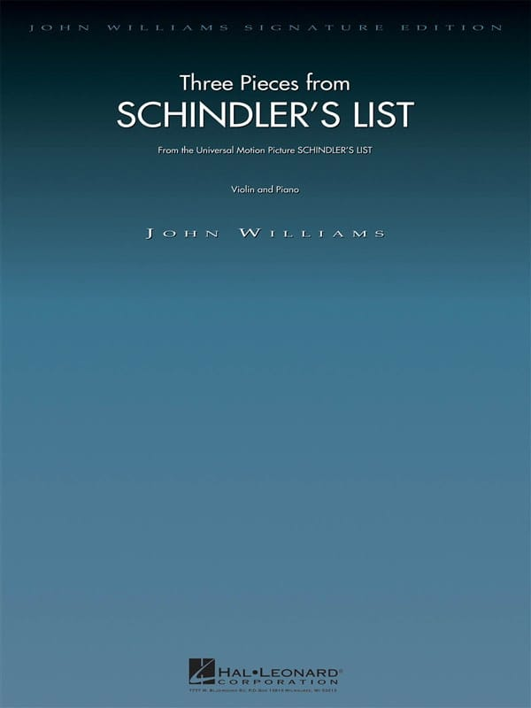 John Williams - 3 Pieces - Schindler's List - Partition - di-arezzo.com