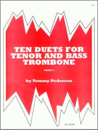 Ten 10 Duets For Tenor & Bass Trombone - laflutedepan.com