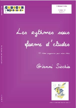 Gianni Sicchio - Rhythms in Study Form Volume 1 - Partition - di-arezzo.co.uk