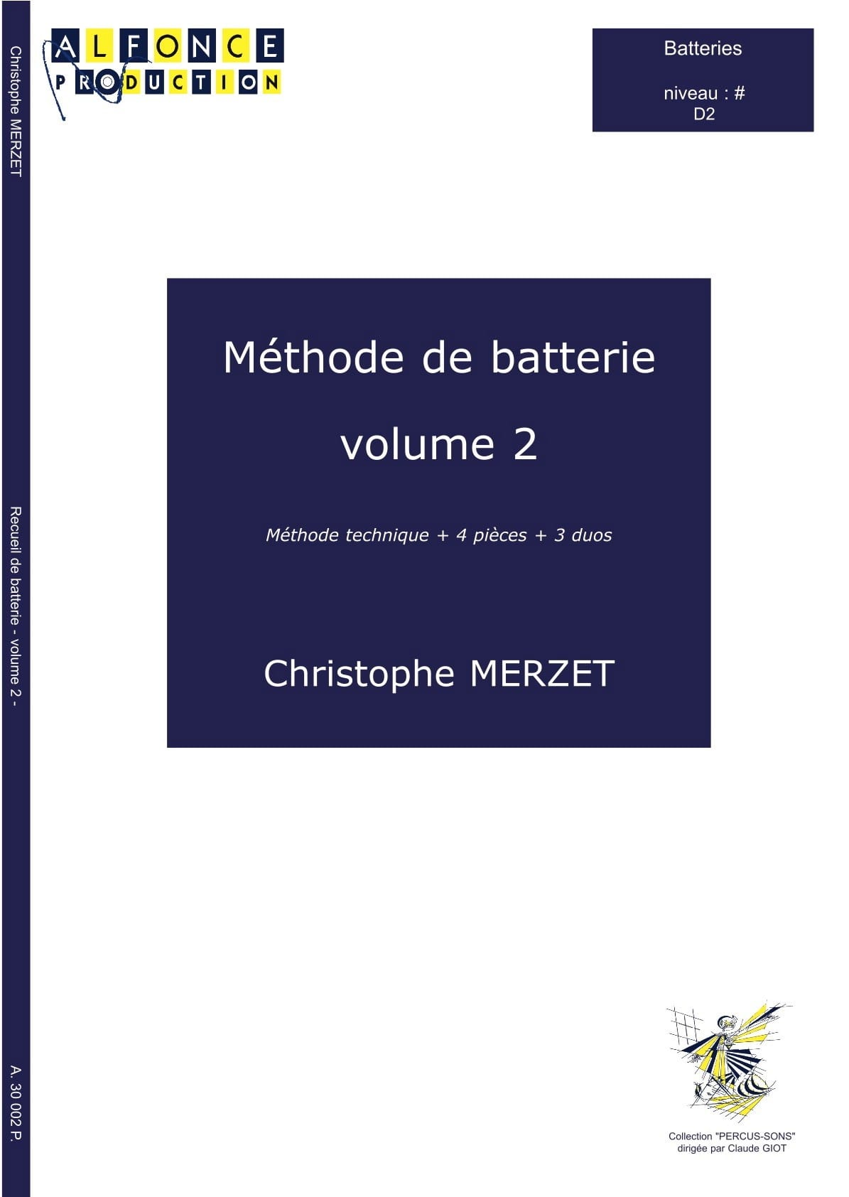 Christophe Merzet - Volumen 2 Método de batería - Partition - di-arezzo.es