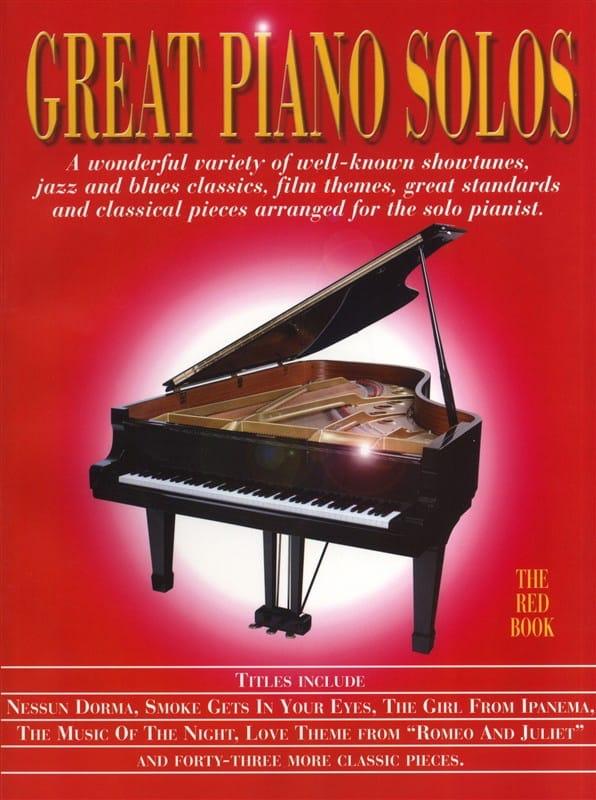 - Great piano solos - The red book - Partition - di-arezzo.co.uk