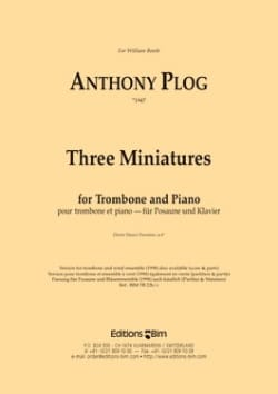 Anthony Plog - Three Miniatures - Partition - di-arezzo.co.uk