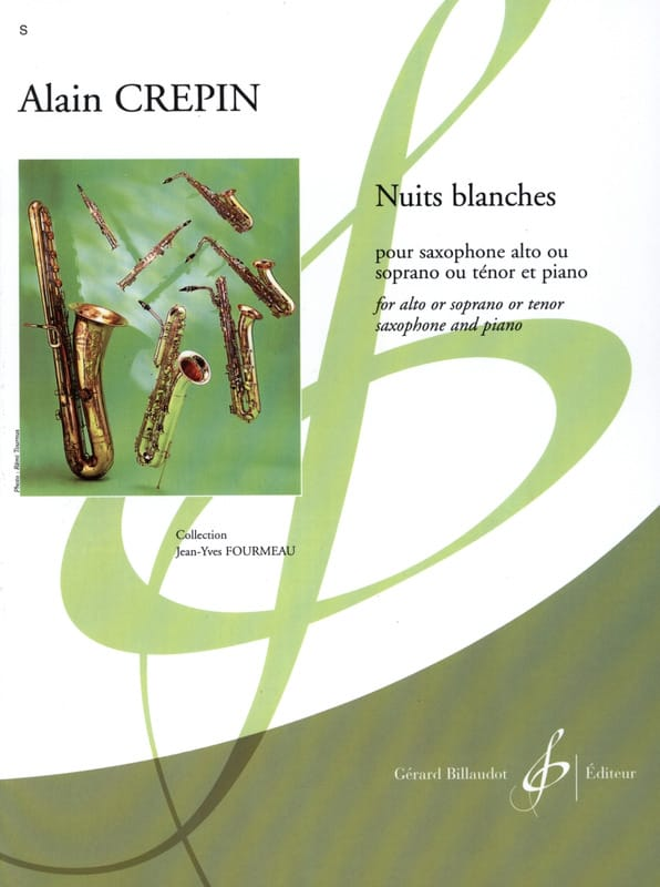 Nuits blanches - Alain Crepin - Partition - laflutedepan.com