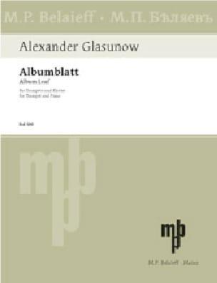 Alexander Glazounov - Albumblatt -Trumpet - Partition - di-arezzo.co.uk
