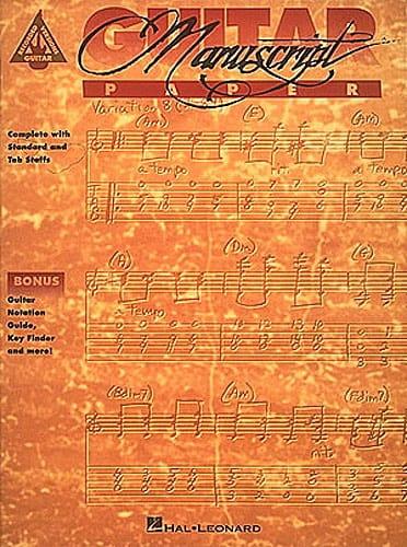 - Guitar Manuscript Paper - Accessoire - di-arezzo.co.uk