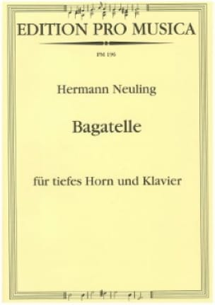 Hermann Neuling - Trifle - Partition - di-arezzo.com