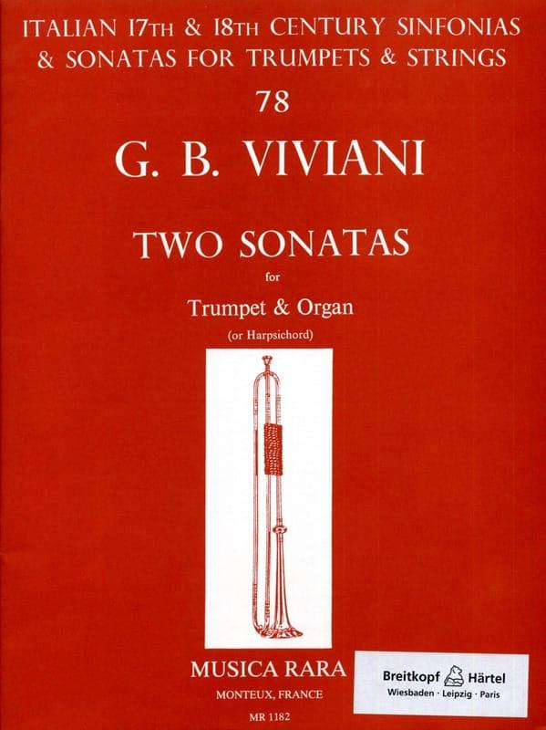 Giovanni Bonaventura Viviani - Two Sonatas - Partition - di-arezzo.co.uk