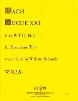 Fugue XXI W T C Volume 2 - BACH - Partition - laflutedepan.com