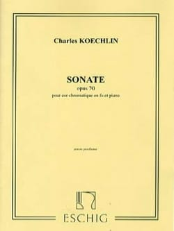 Charles Koechlin - Sonata Opus 70 - Partition - di-arezzo.co.uk