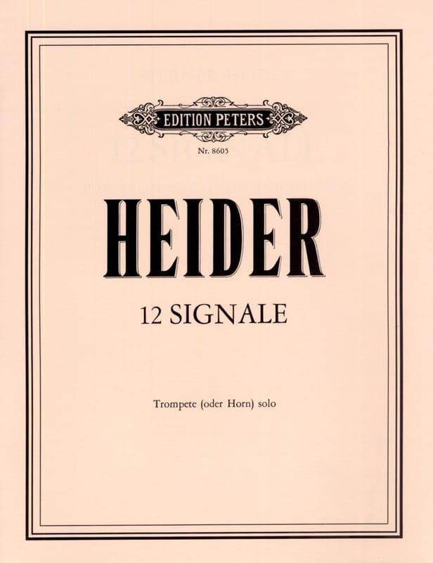 12 Signale - Werner Heider - Partition - Trompette - laflutedepan.com