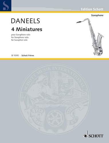 Quatre Miniatures - François Daneels - Partition - laflutedepan.com
