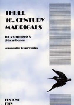 - Three 16th Century Madrigals - Partition - di-arezzo.fr
