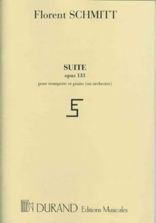 Florent Schmitt - Opus 133 Suite In 3 Parts - Partition - di-arezzo.co.uk
