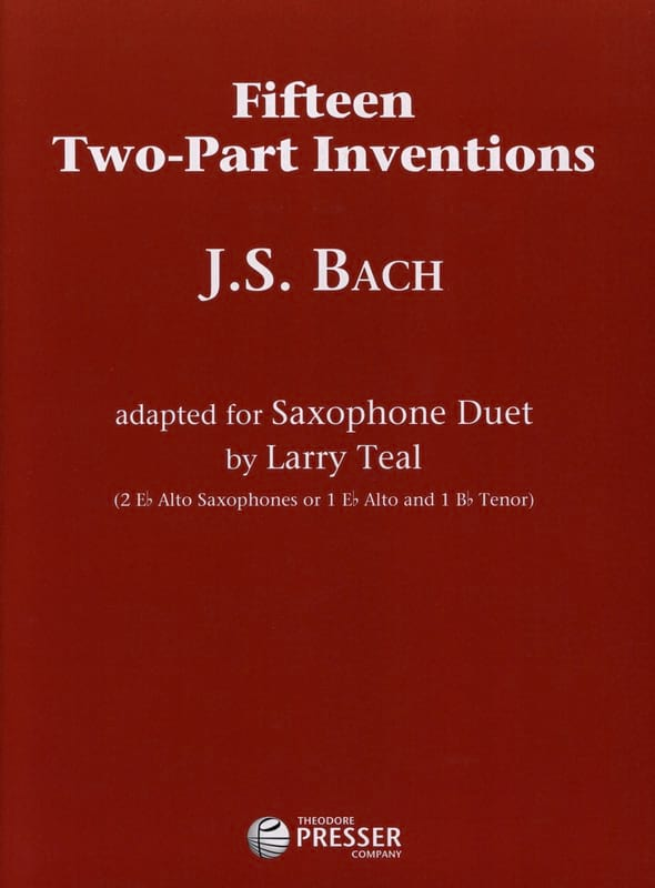 BACH - Fifteen Two-Part Inventions - Partition - di-arezzo.com