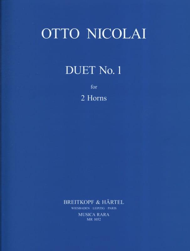 Otto Nicolai - Duet N° 1 - Partition - di-arezzo.fr